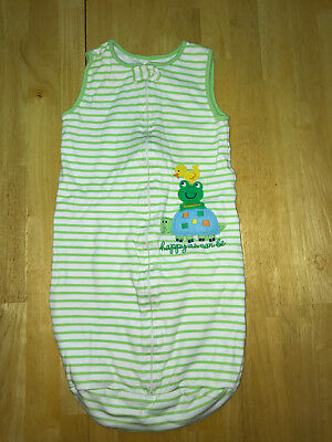 Baby Boys/Neutral Green Carters Striped Frog Sleep Sack 0-9 Months Small