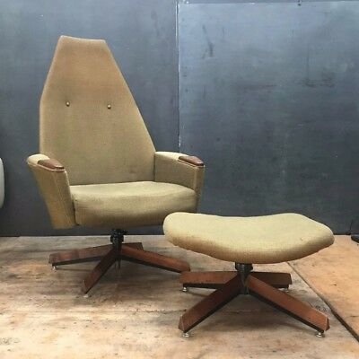 Vtg Adrian Pearsall Mid Century Chair Ottoman Daybed Lounge Space Age Star Trek