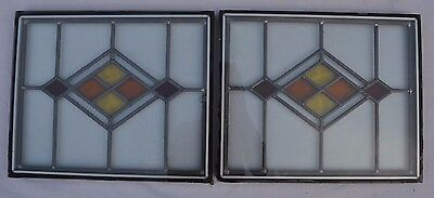 2 double glazed encapsulated leaded light stained glass windows. R526c. DELIVERY