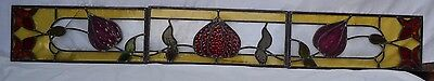 Joining leaded light stained glass window panel set. R572d. DELIVERY OPTIONS!