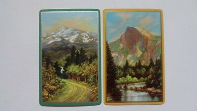 Set of 2 Single Swap/Playing Cards - Lovely Road & River Scenes