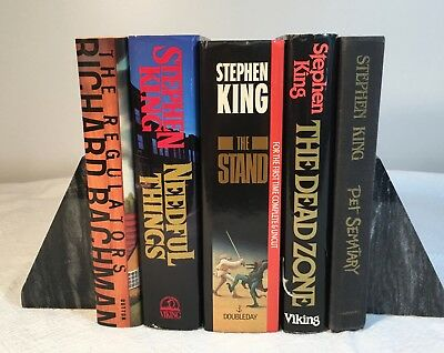Lot of 5 Stephen King Books.  Some Vintage, 1st ed, Pet Sematary