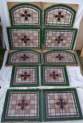 6 VICTORIAN stained glass lead windows R616 DELIVERY OPTIONS & INSURANCE OPTION
