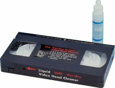 VHS VCR Head Cleaner Kit for Video Tape Cassette comes with Cleaning Fluid