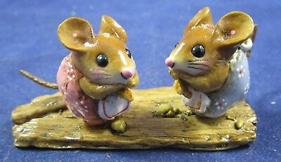 Wee Forest Folk by Annette Petersen Nibble Mouse Summer Double Figure - 2012