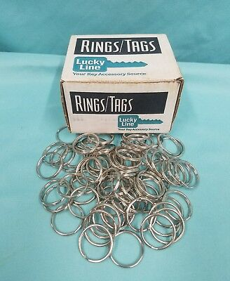 """Lucky Line 1 Box With 100 Split Ring 7/8"""" # 78300 Brand New"""