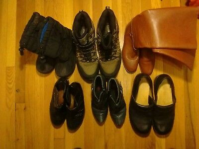 Lot Wholesale Used Shoes pre-owned BootsEVERST and leather boots