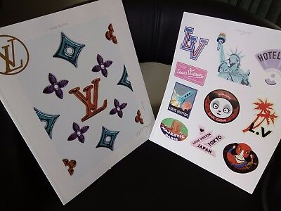 """Louis Vuitton Set Of Stickers And Catalogue """"the Book"""" #7 2017"""