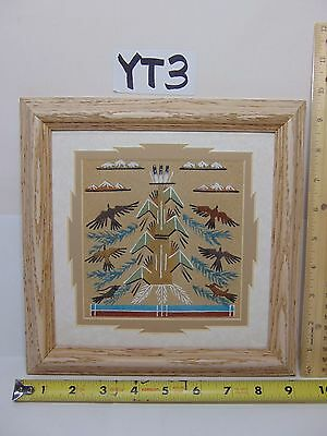 Native American Indian Authentic Navajo Sandpainting by Glen Nez Sand Painting
