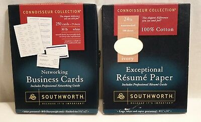 southworth exceptional resume paper 100 cotton 24 lb ivory 100