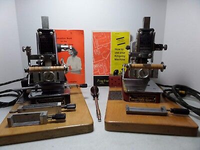 Lot of 2 Vintage Kingsley Hot Foil Stamping Machines and Accessories