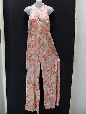 1980's/90's Vintage Halter Neck Jumpsuit with Flared Legs.