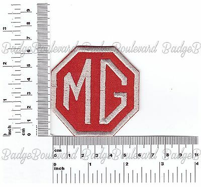 MG Red Octagon Badge Embroidered Cloth Patch
