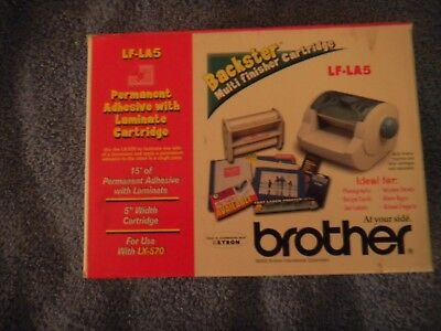 "NEW BROTHER LF-LA5 5"" PERMANENT ADHESIVE w/ LAMINATE CARTRIDGE for use w/ LX-570"
