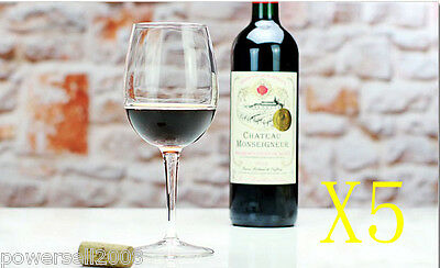 5X 465ML Simple Elegant Crystal Glass Red Wine Foreign Wine Goblet Multi-Use NN