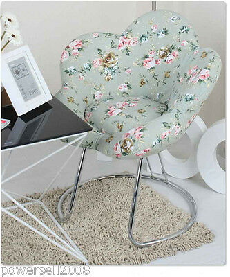 New Light Green Printing Flower Shape Fashion Computer Chair