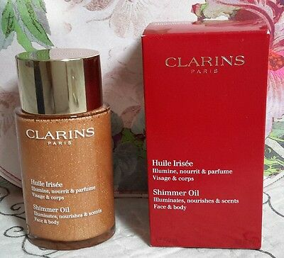 NEW Clarins After Sun Shimmer Oil 100ml FREE P&P , rrp £32