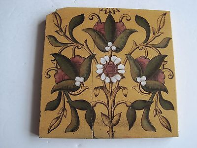 Antique Victorian Wall Tile Print & Tint Floral - Sherwin & Cotton