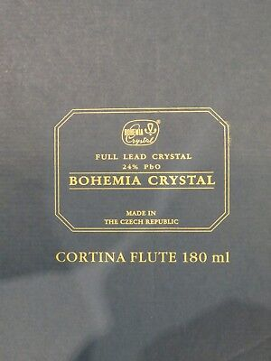 Bohemia Crystal Cortina Champagne Flutes, Set of 6