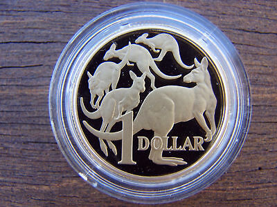 2008  $1  PROOF coin. 5 kangaroos. RARE in proof format. Only 27,000 made! RARE!