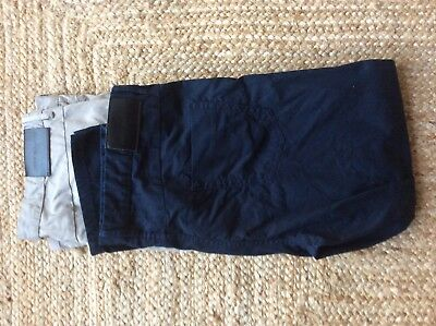 Two Pairs of Mens Jeff Banks Casual Trousers Blue and Natural 38R