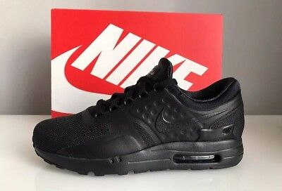 Nike Air Max Zero Essential Size 5.5 All Black Trainers 881224006 Genuine
