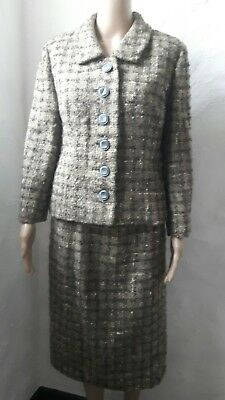 1960s Boucle Tweed Ladies Bickler Suit 36 inch Chest