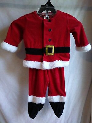 Little Wonders Baby Boy Santa Suit 2 Piece Outfit Toddler 12 Months