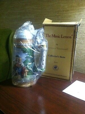 Norman Rockwell Collector  Stein The Music Lesson NIB Ltd Ed 1,993