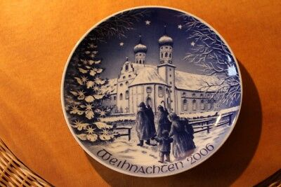 Bareuther Weihnachts Sammel Teller Collectors' Plate Christmas 2006 Top Zustand