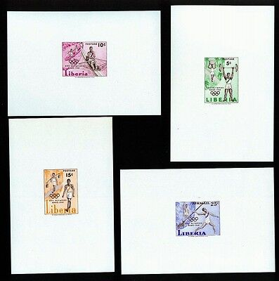 Liberia 1960 Rome Olympics Imperforate proof sheets MNH Perfect gum