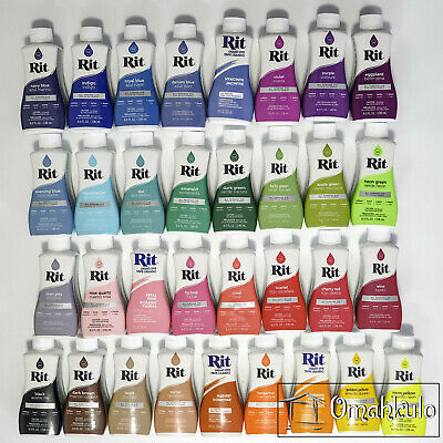 RIT - All Purpose Liquid Fabric Dye - 236ml - 33 Colours to Choose From -