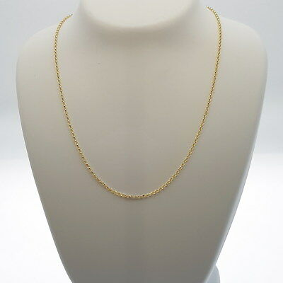 Genuine Brand new 9K Solid Italian Yellow Gold Chain Necklace 45,50,55 and 60 cm