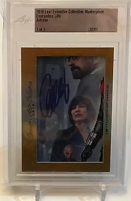 Evangeline Lilly Wasp Ant-Man Leaf Executive Masterpiece Auto Card 1/1