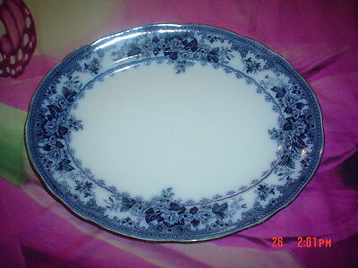 Pretty K & CO Late Mayers 1790 COLWYN Design Blue And White Medium Platter