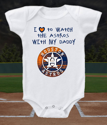 Houston Astros I Love To Watch The Astros With My Daddy Onesie Or Tee