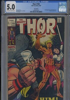 Mighty Thor #165 (1969) CGC 5.0 1st full Him/Adam Warlock. Cheapest on ebay!