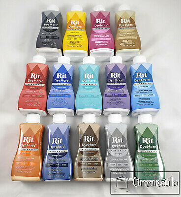 RIT - Liquid Dye More Synthetic Fabric Dye - 207ml - Any Colours/Quantities
