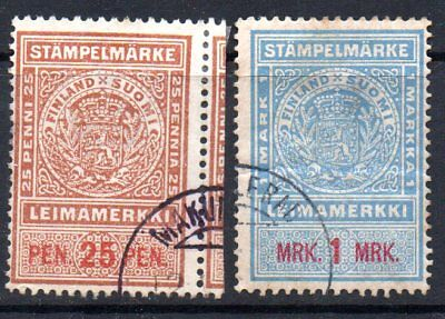 FINLAND – Two Revenue stamps used