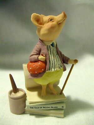Beatrix Potter Pig Figurine - PIGLING BLAND Collectible - Marked 1998