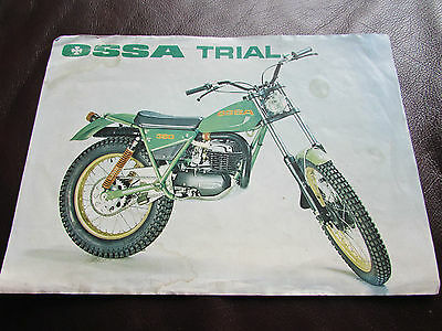 Ossa Trial 250/350 - 1977 Original Sales Brochure