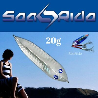 """AMAZING DOLPHIN SLIDE ACTION JIG BLUE BLUE TOKYO """"SEA RIDE"""" 20g"""