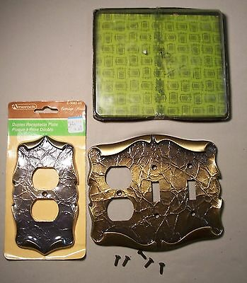 Vtg Amerock Carriage House Switch Outlet Plate Cover Antique Brass NOS USA #G57
