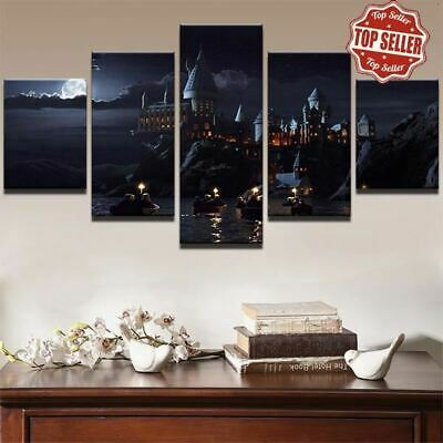 5 PANEL HARRY Potter Hogwarts Oil Painting Poster Style Canvas Wall ...