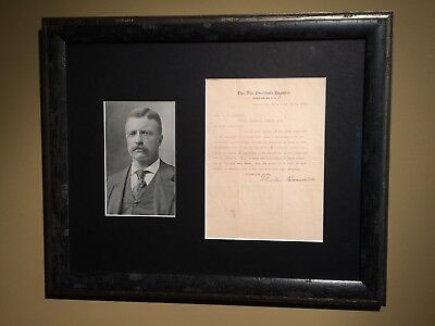 President Theodore Roosevelt Signed Letter As Vice President Great Content!