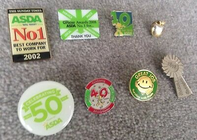 Limited Edition  Asda Celebrating 50 Years 40 Years 10 Years service badges