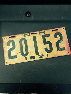 1921 New Hampshire NH License Plate 20152