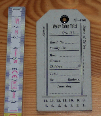 native american-american indian - Indian Ration Ticket - ungebraucht - 188?