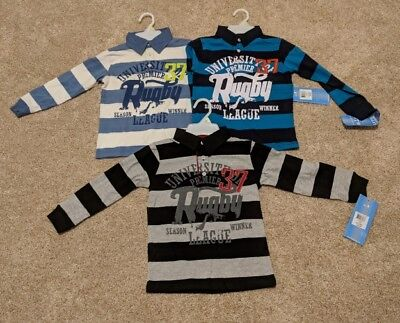 French Toast long sleeve rugby shirts LOT Size 12m through Boys XL 102 shirts