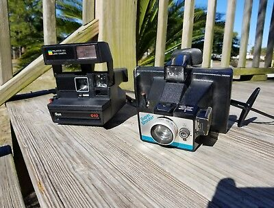 Lot of 2 Vintage Poloroid Camera's Sun 640 / Super Shooter Land Camera